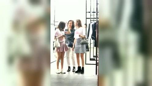 时尚街拍记录美好生活--三位可爱的小姐姐