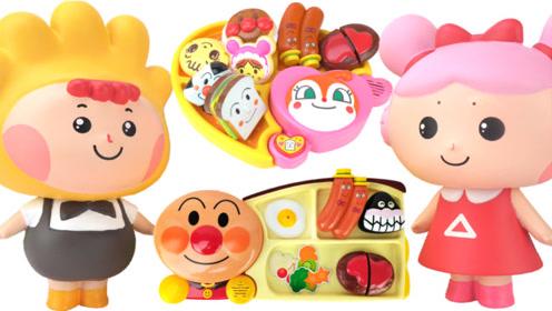 面包超人的美食餐盘厨房玩具