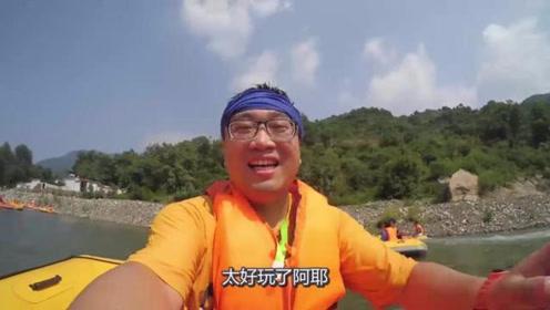 河北旅游大变天,小伙峡谷飞流直下,惊险体验江北第一漂流