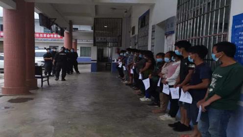 云南马关警方查获17名越南籍偷渡入境人员:欲前往境内务工