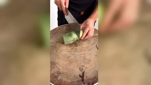 五星级厨师是这样练习刀工的,绝对厉害