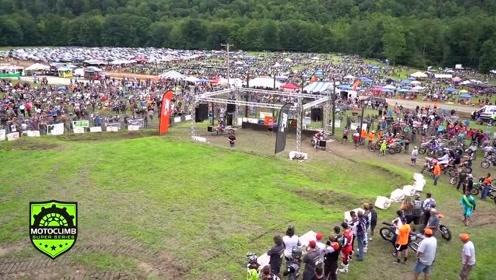 山地摩托车爬坡竞技赛,成功往往需要运气!