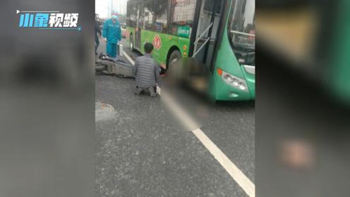 突发!河南郑州公交车电瓶车相撞!电瓶车车主当场身亡!公交车司机长跪不起