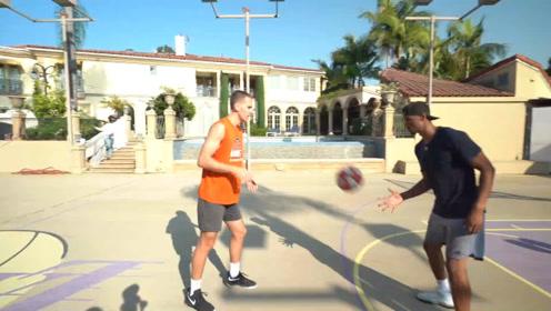 非常精彩的2V2篮球赛,没想到他们都是高手,篮球打得太出色!