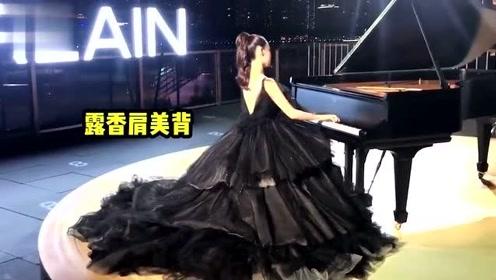 现实中的公主!吉娜弹钢琴爸爸在一旁细心调音,吉爸爸颜值超高