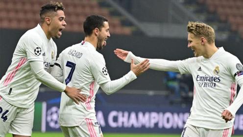 欧冠阿扎尔点射,罗德里戈替补破门,国米0-2皇马