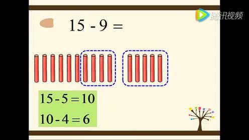 20以内退位减法-一年级数学下册_练一练Flash动画2