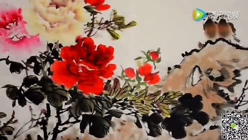 书画名家孙中存写意牡丹绘画视频
