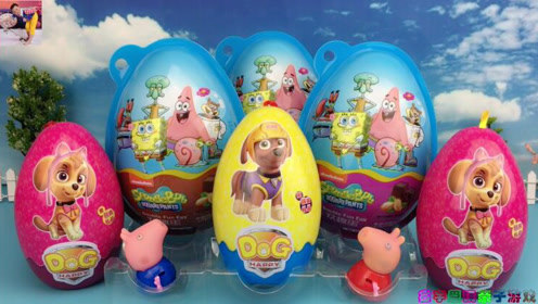 小猪佩琪拆汪汪队立大功奇趣蛋玩具视频