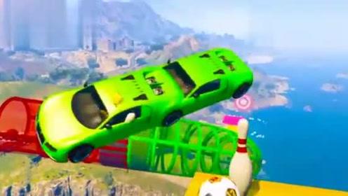 迪士尼赛车总动员极速赛车超级英雄开超级赛车特技表演