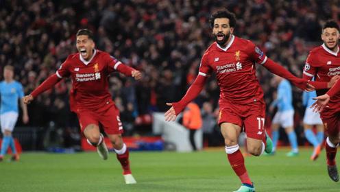 2018年欧冠经典比赛 利物浦3-0曼城 萨拉赫,马内和张伯伦包揽进球图片