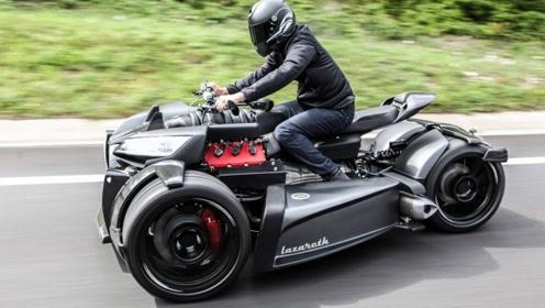 法国人造摩托太猛了,法拉利V8发动机配宝马变速箱,一辆150万!