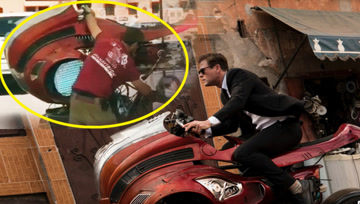 电影里的特效镜头居然是这样拍的,锤哥坐骑像斗牛机!