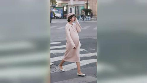 街拍怀孕的小姐姐