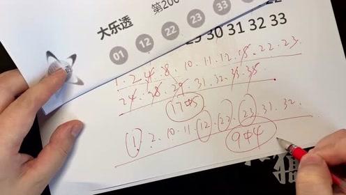 大乐透预测019期测中4+1,科学预测博主视频讲解