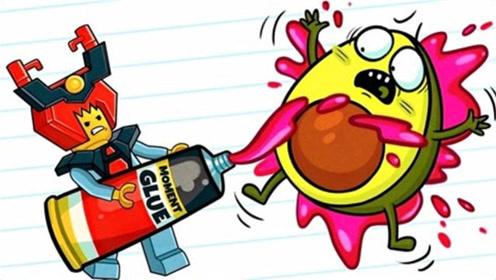 牛油果动画:乐高玩具居然学会了反击
