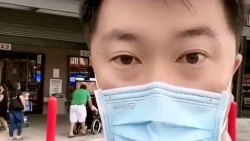 在美国的华人,发来的一段视频!见识一下美国最近的情况