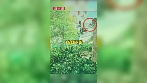 江西乐安命案嫌犯被抓全程监控首曝光:摩托被拦截后 抓捕人员围堵