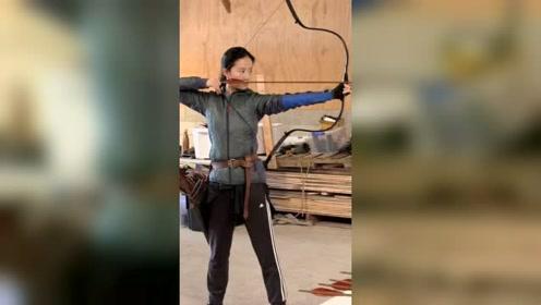 刘亦菲《花木兰》训练视频,辛苦啦!