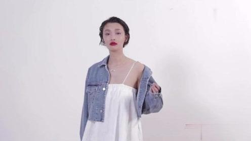 短款牛仔外套+抹X小白裙,元气少女的穿搭组合哦,喜欢试试!