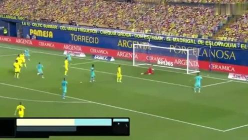 西甲梅西两助攻,巴萨客场41大胜比利亚雷亚尔全场集锦