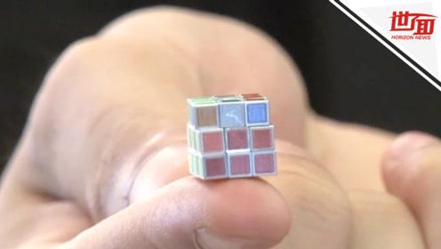 日本展出世界最小魔方:边长不到1厘米 一个卖20万日元