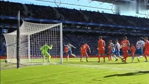 首球来了武磊鬼魅跑位垫射,打破西甲进球荒