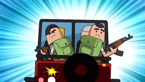 搞笑吃鸡动画:马可波拿到两把M249,重机枪子弹