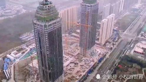航拍山东枣庄,这建筑直逼一线城市,太繁华了