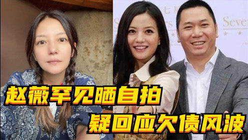 45岁赵薇罕见晒自拍,配文意味深长,疑回应欠债