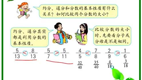 苏教版五年级数学下册四 分数的意义和性质