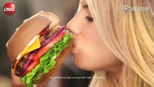 2015超级碗广告汉堡 美女街头走秀众人围观