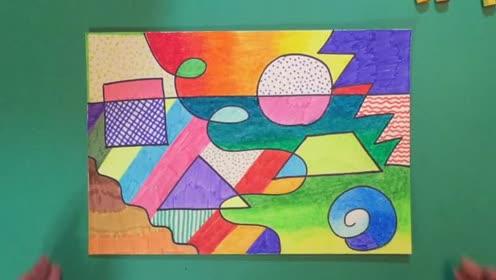 人教版二年级美术下册第3课 点 线 面