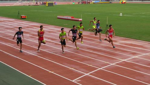 全运会田径青少赛男子100米决赛
