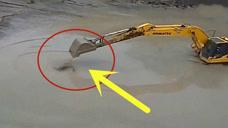 鳄鱼碰上挖掘机,5秒后,场面让人无言以对