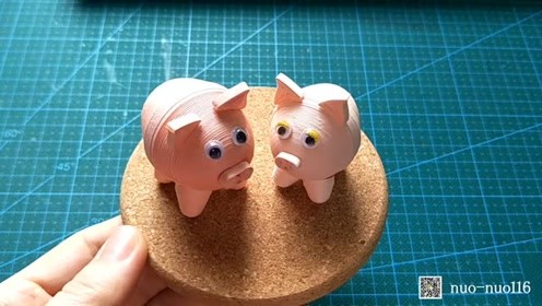 衍纸小动物-小猪