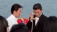 星爷跟刘天王两手上演赌侠,这一段是他们被欺负最惨的一次