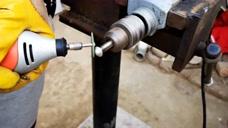 旧螺丝杆加工的改锥,配合电钻就能安装沙发,太实用了!