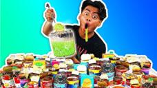 几十个罐头搅拌在一起,这会是什么味道?戏精小哥也有后悔的时候