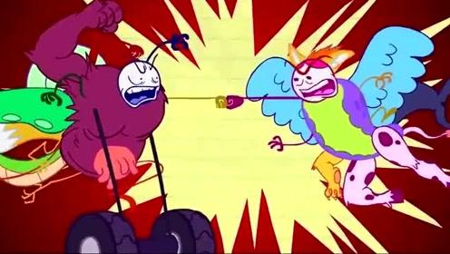 搞笑铅笔人动画:激烈的战斗