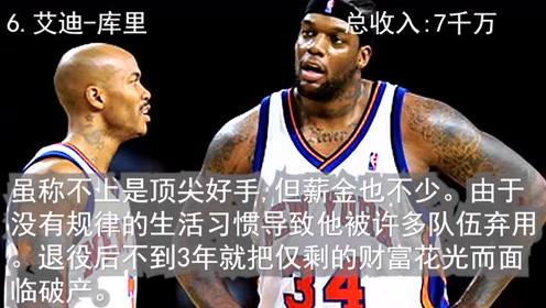 十大破产的NBA球星,第一个居然是艾弗森