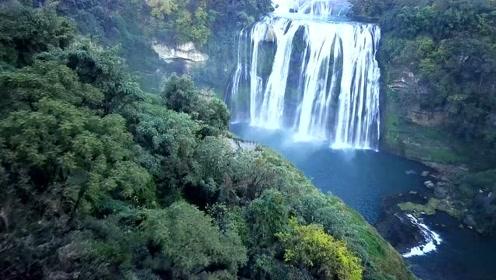 """航拍贵州:贵州三大旅游景点之一的""""黄果树瀑布""""太美了"""