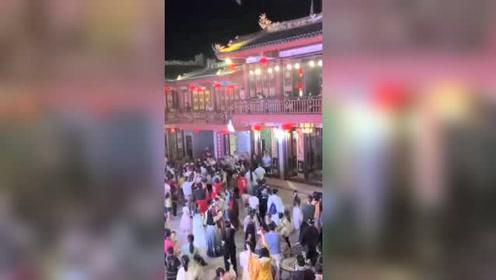 潮汕七夕节汉服小姐姐抛绣球 缘系潮汕风2020