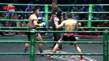 泰拳比赛,一拳一腿都充满力量,对手敏捷点满,全部闪开,一来一回真的精彩