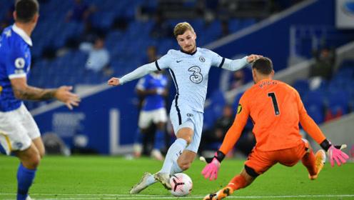 英超切尔西对阵布莱顿比赛集锦,维尔纳造点球,兰帕德迎来开门红!