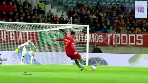 足球世界里精彩的进球,C罗一脚划出美丽弧线