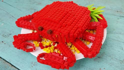 美食达人新创意,将乐高制成帝王蟹,哈喇子都收不住了!