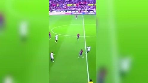 足球,梅西的潇洒带球集锦,不愧是领袖