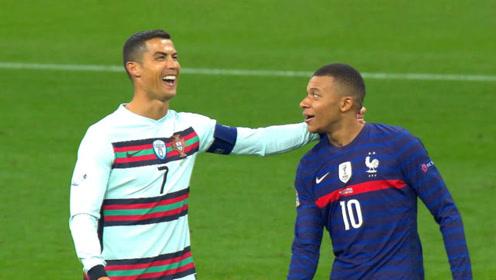 法国战平葡萄牙丨姆巴佩遇上偶像C罗,称他为史上最佳