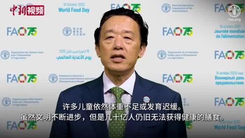 联合国粮农组织总干事为世界粮食日致辞